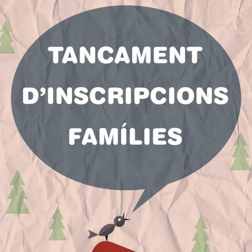 TANCAMENT-D'INSCRIPCIONS